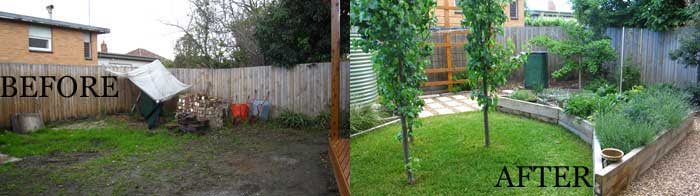 Garden Design Before And After garden design melbourne - arcadia sustainable design