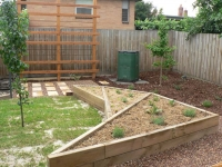 Brunswick East Rear Veggetable Garden