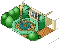 Pacsoe Vale South Front Garden in 3D